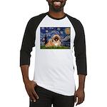 Starry / Pekingese(r&w) Baseball Jersey