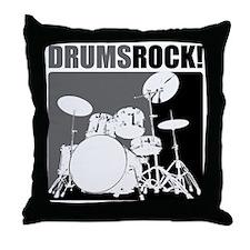Drums Rock Throw Pillow