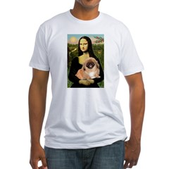 Mona / Pekingese(r&w) Fitted T-Shirt
