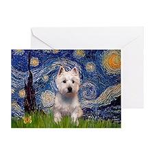 Starry - Westie (P) Greeting Card