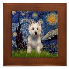 Starry / Westie Framed Tile