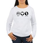Peace Love New Jersey Women's Long Sleeve T-Shirt