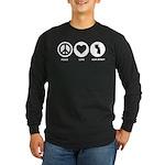 Peace Love New Jersey Long Sleeve Dark T-Shirt