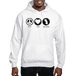 Peace Love New Jersey Hooded Sweatshirt
