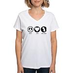 Peace Love New Jersey Women's V-Neck T-Shirt