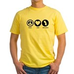 Peace Love New Jersey Yellow T-Shirt