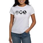 Peace Love New Jersey Women's T-Shirt