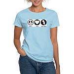 Peace Love New Jersey Women's Light T-Shirt
