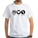 Peace Love New Jersey White T-Shirt
