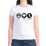 Peace Love New Jersey Jr. Ringer T-Shirt