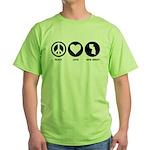 Peace Love New Jersey Green T-Shirt