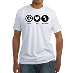 Peace Love New Jersey Fitted T-Shirt