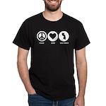 Peace Love New Jersey Dark T-Shirt