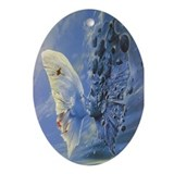 Cool Feathers Oval Ornament