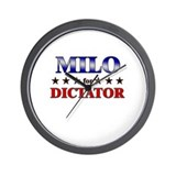 MILO for dictator Wall Clock