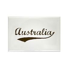 Vintage Australia Rectangle Magnet (10 pack)