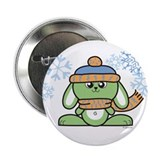 "Snow Bunny 2.25"" Button"