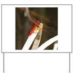 Red Dragonfly Yard Sign