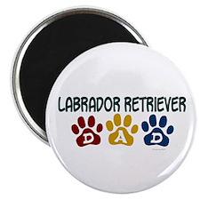 """Labrador Retriever Dad 1 2.25"""" Magnet (10 pack)"""