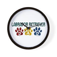 Labrador Retriever Dad 1 Wall Clock