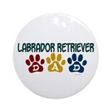 Labrador Retriever Dad 1 Ornament (Round)