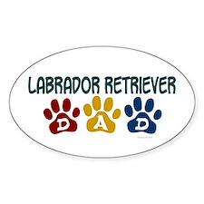 Labrador Retriever Dad 1 Oval Decal
