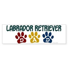 Labrador Retriever Dad 1 Bumper Bumper Sticker