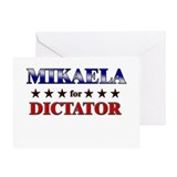 MIKAELA for dictator Greeting Card