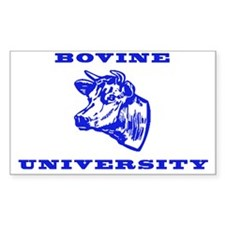 Bovine University Rectangle Decal