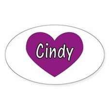 Cindy Oval Decal