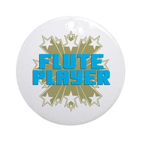 Star Flute Player Ornament (Round)