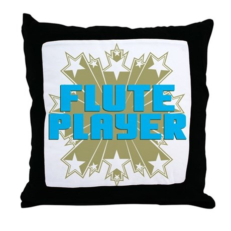 Star Flute Player Throw Pillow