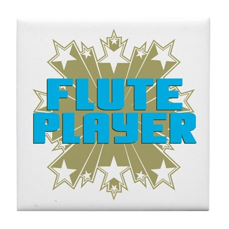 Star Flute Player Tile Coaster