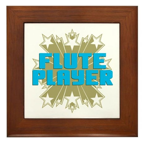 Star Flute Player Framed Tile