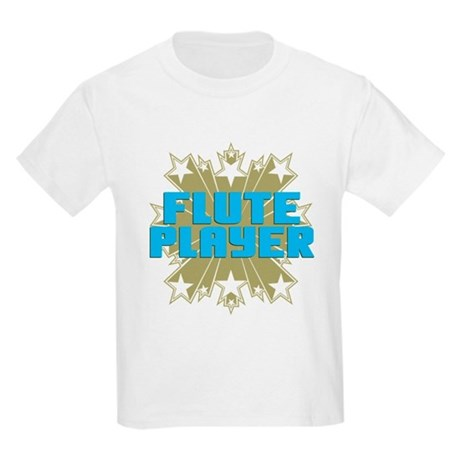 Star Flute Player Kids Light T-Shirt