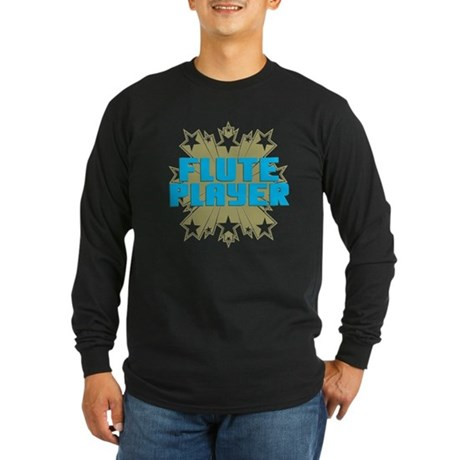Star Flute Player Long Sleeve Dark T-Shirt
