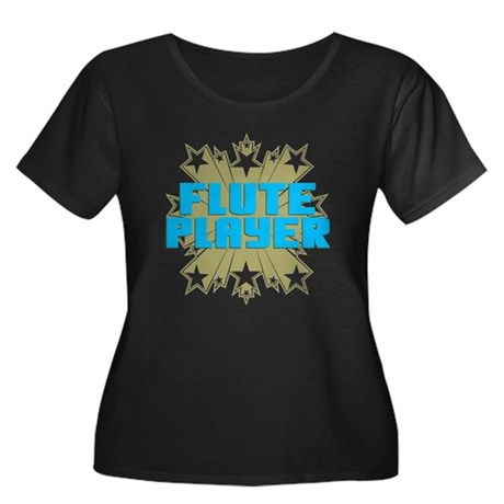 Star Flute Player Women's Plus Size Scoop Neck Dar