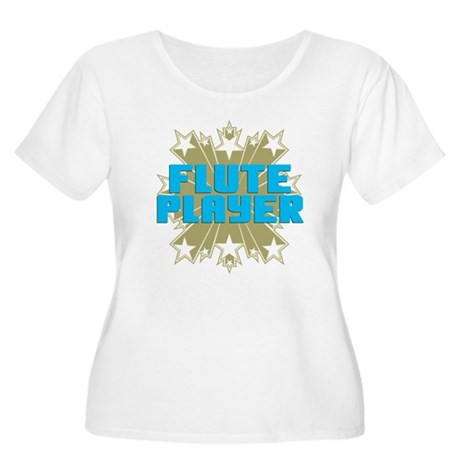 Star Flute Player Women's Plus Size Scoop Neck T-S