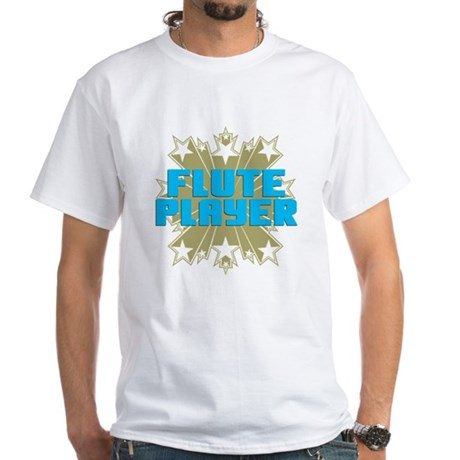 Star Flute Player White T-Shirt