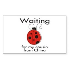 Waiting Cousin Rectangle Decal