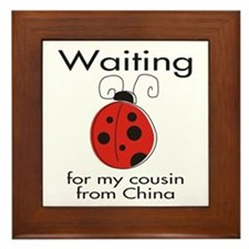 Waiting Cousin Framed Tile