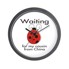 Waiting Cousin Wall Clock