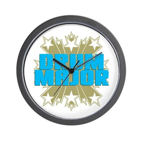 Star Drum Major Wall Clock