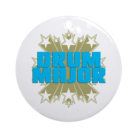 Star Drum Major Ornament (Round)