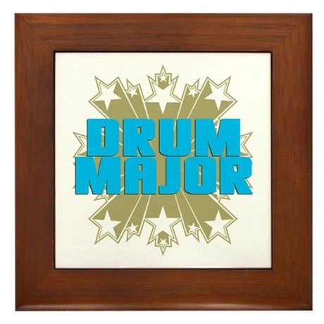 Star Drum Major Framed Tile