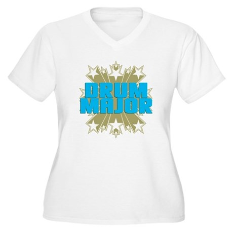 Star Drum Major Women's Plus Size V-Neck T-Shirt