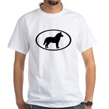 Siberian Husky Dog Oval Shirt