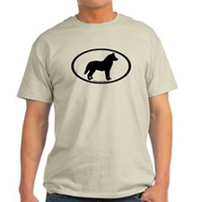 Siberian Husky Dog Oval T-Shirt
