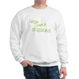 Green Crop Paper Scissors Sweater