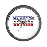 MCKENNA for dictator Wall Clock